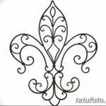фото Эскизы тату королевская лилия от 24.04.2018 №055 - royal lily tattoo - tatufoto.com