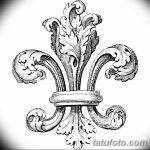 фото Эскизы тату королевская лилия от 24.04.2018 №061 - royal lily tattoo - tatufoto.com