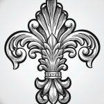 фото Эскизы тату королевская лилия от 24.04.2018 №074 - royal lily tattoo - tatufoto.com