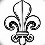 фото Эскизы тату королевская лилия от 24.04.2018 №087 - royal lily tattoo - tatufoto.com