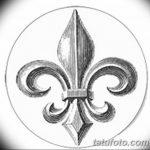 фото Эскизы тату королевская лилия от 24.04.2018 №090 - royal lily tattoo - tatufoto.com