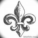 фото Эскизы тату королевская лилия от 24.04.2018 №092 - royal lily tattoo - tatufoto.com