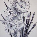 фото Эскизы тату нарцисс от 18.04.2018 №009 - Sketches of daffodil - tatufoto.com