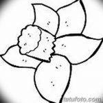 фото Эскизы тату нарцисс от 18.04.2018 №032 - Sketches of daffodil - tatufoto.com