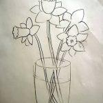 фото Эскизы тату нарцисс от 18.04.2018 №036 - Sketches of daffodil - tatufoto.com