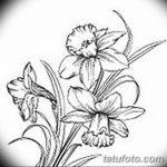 фото Эскизы тату нарцисс от 18.04.2018 №041 - Sketches of daffodil - tatufoto.com