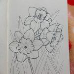фото Эскизы тату нарцисс от 18.04.2018 №046 - Sketches of daffodil - tatufoto.com