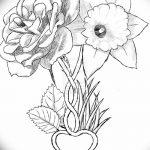 фото Эскизы тату нарцисс от 18.04.2018 №054 - Sketches of daffodil - tatufoto.com