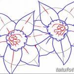 фото Эскизы тату нарцисс от 18.04.2018 №055 - Sketches of daffodil - tatufoto.com