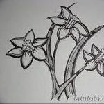 фото Эскизы тату нарцисс от 18.04.2018 №059 - Sketches of daffodil - tatufoto.com