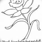 фото Эскизы тату нарцисс от 18.04.2018 №062 - Sketches of daffodil - tatufoto.com