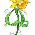фото Эскизы тату нарцисс от 18.04.2018 №072 - Sketches of daffodil - tatufoto.com