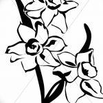 фото Эскизы тату нарцисс от 18.04.2018 №079 - Sketches of daffodil - tatufoto.com
