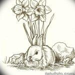 фото Эскизы тату нарцисс от 18.04.2018 №086 - Sketches of daffodil - tatufoto.com