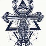 фото Эскиз тату Анкх от 27.04.2018 №007 - Sketches of Ankh tattoo - tatufoto.com