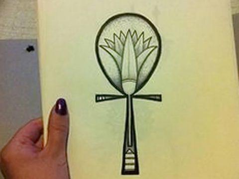 фото Эскиз тату Анкх от 27.04.2018 №039 - Sketches of Ankh tattoo - tatufoto.com