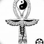 фото Эскиз тату Анкх от 27.04.2018 №072 - Sketches of Ankh tattoo - tatufoto.com