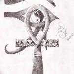фото Эскиз тату Анкх от 27.04.2018 №077 - Sketches of Ankh tattoo - tatufoto.com
