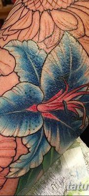 фото тату Гибискус от 20.04.2018 №002 – tattoo Hibiscus – tatufoto.com