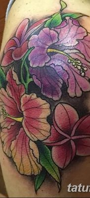 фото тату Гибискус от 20.04.2018 №003 – tattoo Hibiscus – tatufoto.com