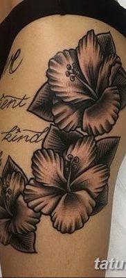 фото тату Гибискус от 20.04.2018 №004 – tattoo Hibiscus – tatufoto.com