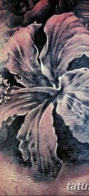 фото тату Гибискус от 20.04.2018 №005 – tattoo Hibiscus – tatufoto.com