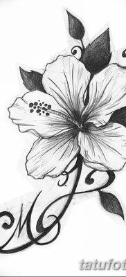 фото тату Гибискус от 20.04.2018 №007 – tattoo Hibiscus – tatufoto.com