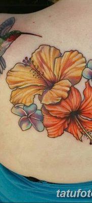 фото тату Гибискус от 20.04.2018 №009 – tattoo Hibiscus – tatufoto.com
