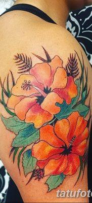 фото тату Гибискус от 20.04.2018 №010 – tattoo Hibiscus – tatufoto.com
