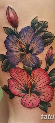 фото тату Гибискус от 20.04.2018 №011 – tattoo Hibiscus – tatufoto.com