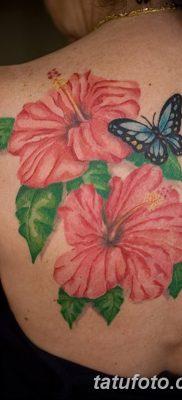 фото тату Гибискус от 20.04.2018 №012 – tattoo Hibiscus – tatufoto.com