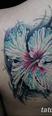 фото тату Гибискус от 20.04.2018 №014 – tattoo Hibiscus – tatufoto.com