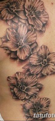 фото тату Гибискус от 20.04.2018 №015 – tattoo Hibiscus – tatufoto.com