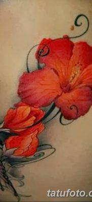 фото тату Гибискус от 20.04.2018 №016 – tattoo Hibiscus – tatufoto.com