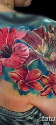 фото тату Гибискус от 20.04.2018 №017 – tattoo Hibiscus – tatufoto.com