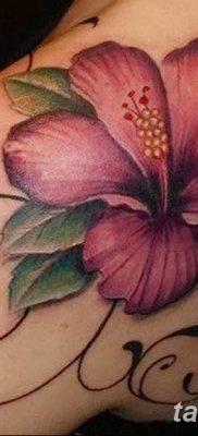 фото тату Гибискус от 20.04.2018 №018 – tattoo Hibiscus – tatufoto.com