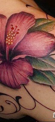 фото тату Гибискус от 20.04.2018 №019 – tattoo Hibiscus – tatufoto.com