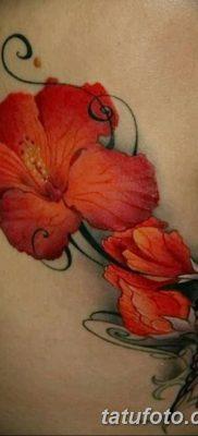 фото тату Гибискус от 20.04.2018 №024 – tattoo Hibiscus – tatufoto.com