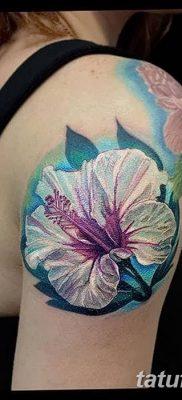 фото тату Гибискус от 20.04.2018 №025 – tattoo Hibiscus – tatufoto.com