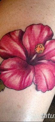 фото тату Гибискус от 20.04.2018 №026 – tattoo Hibiscus – tatufoto.com