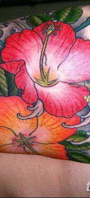 фото тату Гибискус от 20.04.2018 №028 – tattoo Hibiscus – tatufoto.com