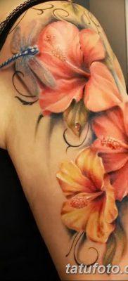 фото тату Гибискус от 20.04.2018 №031 – tattoo Hibiscus – tatufoto.com