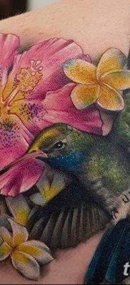 фото тату Гибискус от 20.04.2018 №033 – tattoo Hibiscus – tatufoto.com