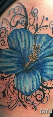 фото тату Гибискус от 20.04.2018 №035 – tattoo Hibiscus – tatufoto.com