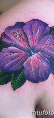 фото тату Гибискус от 20.04.2018 №036 – tattoo Hibiscus – tatufoto.com