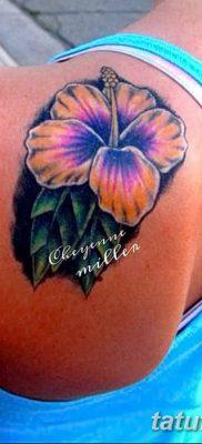 фото тату Гибискус от 20.04.2018 №040 – tattoo Hibiscus – tatufoto.com