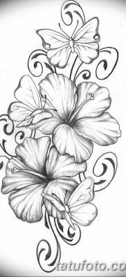 фото тату Гибискус от 20.04.2018 №042 – tattoo Hibiscus – tatufoto.com