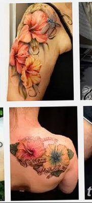 фото тату Гибискус от 20.04.2018 №043 – tattoo Hibiscus – tatufoto.com