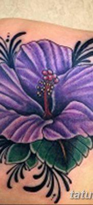фото тату Гибискус от 20.04.2018 №045 – tattoo Hibiscus – tatufoto.com