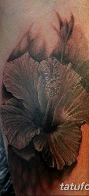 фото тату Гибискус от 20.04.2018 №046 – tattoo Hibiscus – tatufoto.com